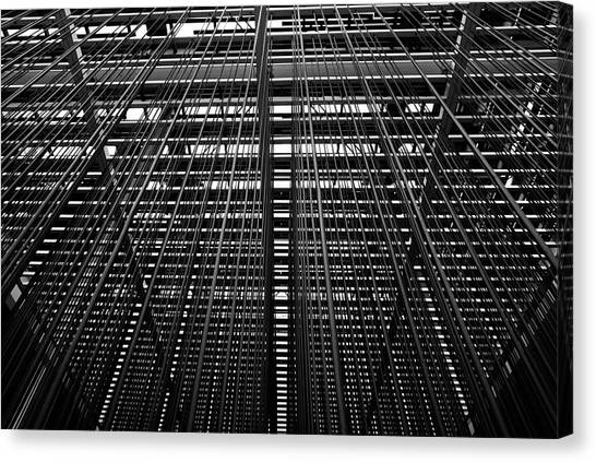 Metal Lines Canvas Print