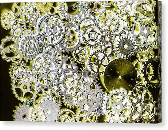 Tool Canvas Print - Metallic Motor Mechanisms by Jorgo Photography - Wall Art Gallery