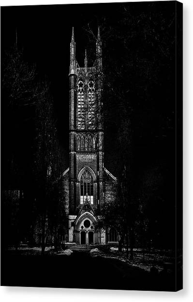 Canvas Print featuring the photograph Metropolitan United Church Toronto Canada 3 by Brian Carson