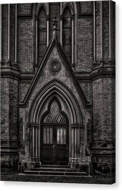 Canvas Print featuring the photograph Metropolitan United Church Toronto Canada 7 by Brian Carson
