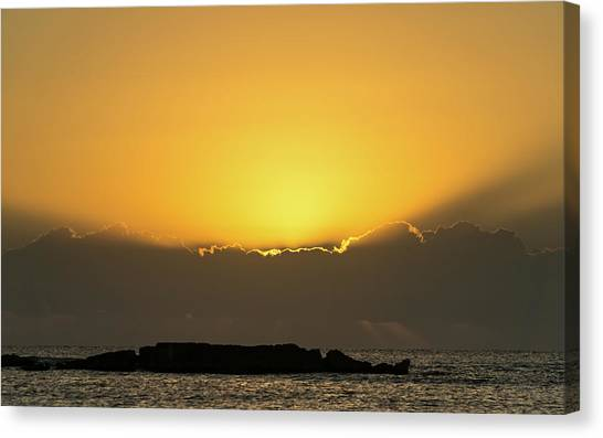 Mexico Ocean Sunrise Canvas Print