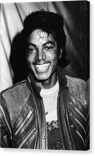 Casual Canvas Print - Michael Jackson Attends Premiere by Pictorial Parade