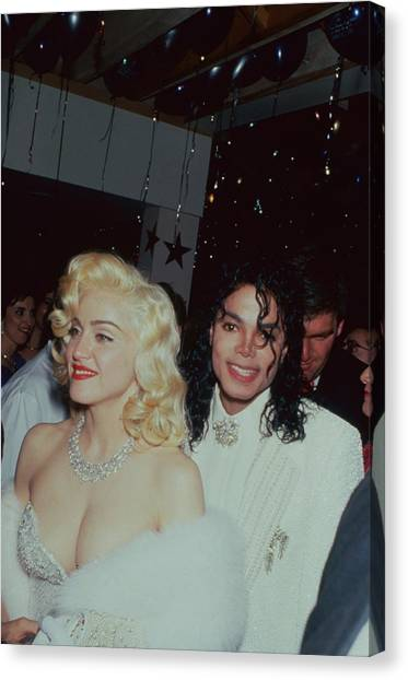 Michael Jacksonmadonna Canvas Print by Time Life Pictures