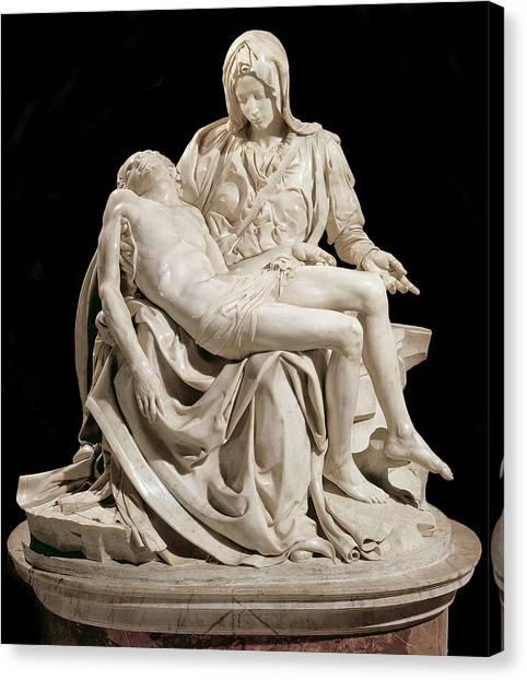 Michelangelo La Pieta Canvas Print