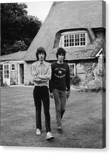 Mick & Keith In The Country Canvas Print