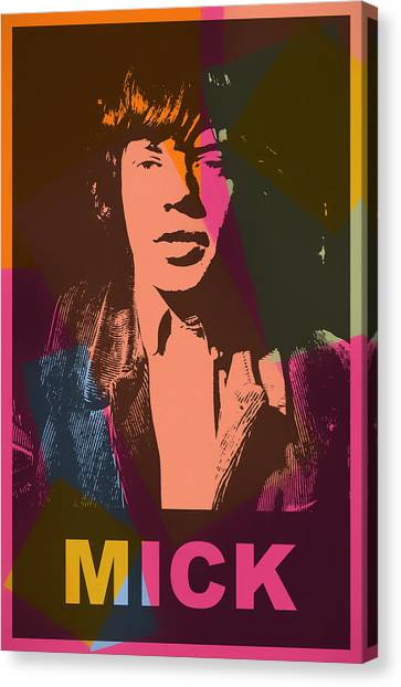 Moves Like Jagger Canvas Print - Mick Jagger Color Pop by Dan Sproul