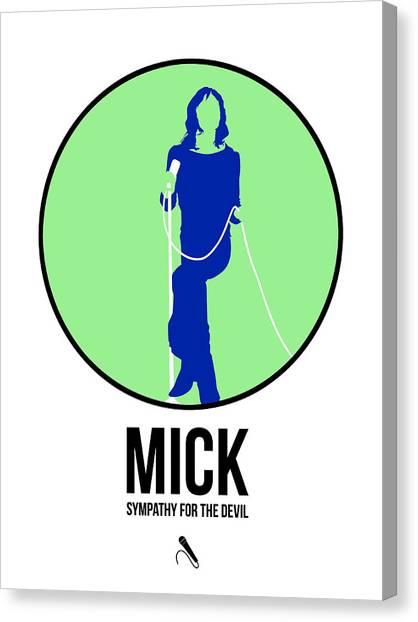 Musician Canvas Print - Mick Jagger by Naxart Studio
