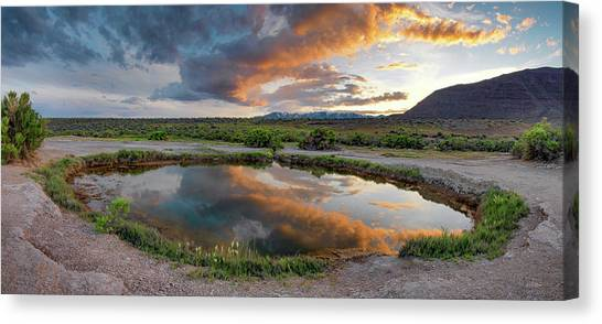 Mickey Hot Springs 2 Canvas Print by Leland D Howard