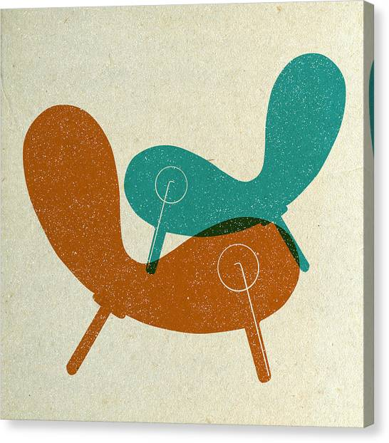 Tasteful Canvas Print - Mid Century Chair Collage II by Naxart Studio