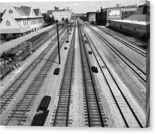 Middle Of The Tracks Canvas Print