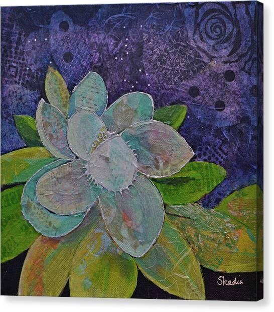 Carolina Canvas Print - Midnight Magnolia I by Shadia Derbyshire