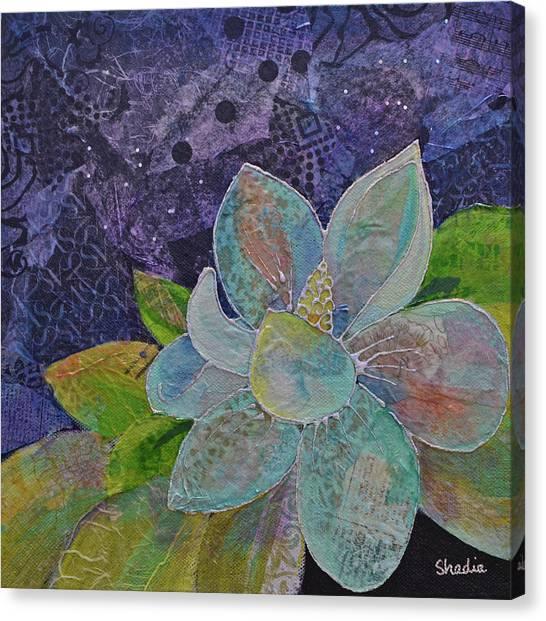 Carolina Canvas Print - Midnight Magnolia II by Shadia Derbyshire