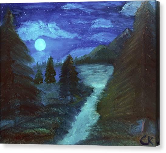 Midnight River Canvas Print
