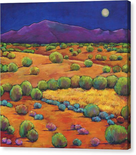 Night Canvas Print - Midnight Sagebrush by Johnathan Harris