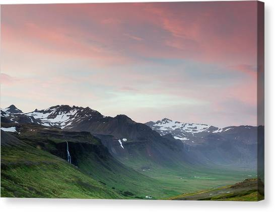 Midnight Sun In Iceland Canvas Print