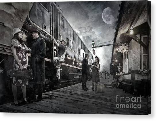 Canvas Print featuring the digital art Midnite Run by Brad Allen Fine Art