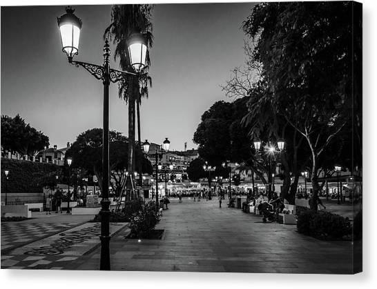 Mijas Main Square Canvas Print