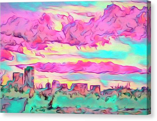 Mile High Sunset Canvas Print
