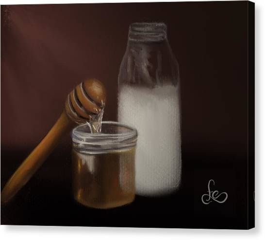 Canvas Print featuring the painting Milk And Honey  by Fe Jones