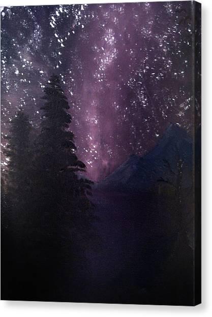 Milky Way Lake Canvas Print