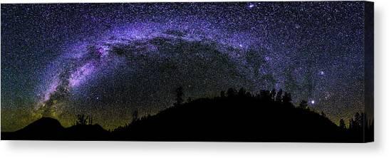 Milky Way Over Colorado Country Canvas Print