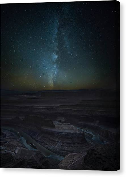 Canvas Print featuring the photograph Milky Way Over Dead Horse Point by David Morefield