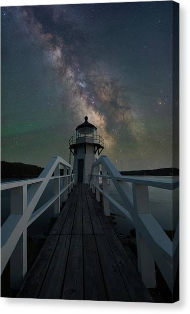 Milky Way Over Doubling Point Canvas Print