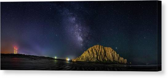 Milky Way Over Morro Rock Canvas Print