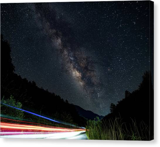 Milky Way Over The South Road Canvas Print