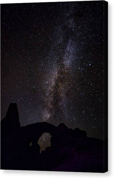 Canvas Print featuring the photograph Milky Way Over The Windows by David Morefield