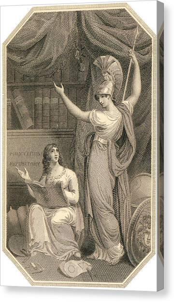 Minerva Directing Study To The  Attainment Of Universal Knowledge Canvas Print
