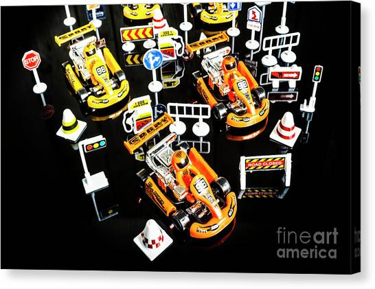 Carts Canvas Print - Miniature Motorsports by Jorgo Photography - Wall Art Gallery