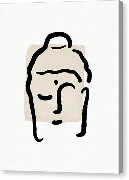 Simple Canvas Print - Minimal Buddha 4- Art By Linda Woods by Linda Woods