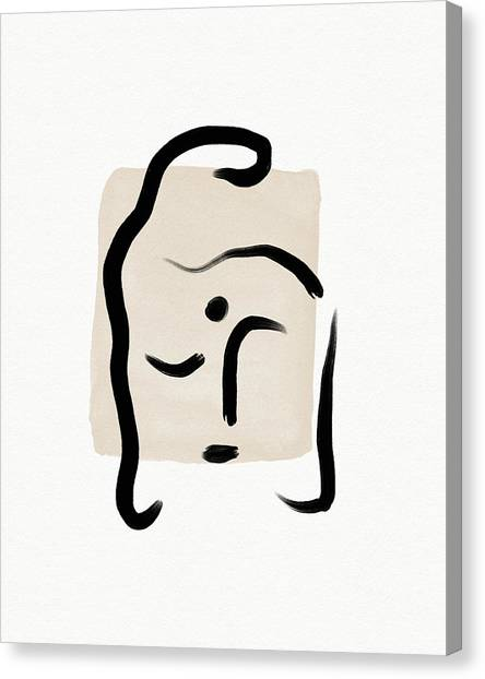 Simple Canvas Print - Minimal Buddha 5- Art By Linda Woods by Linda Woods