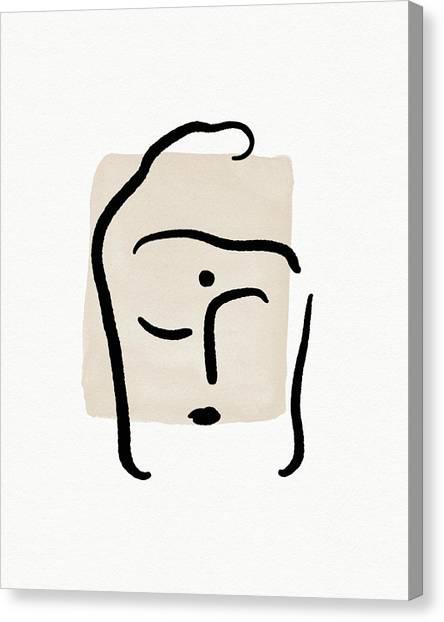 Simple Canvas Print - Minimal Buddha 6- Art By Linda Woods by Linda Woods