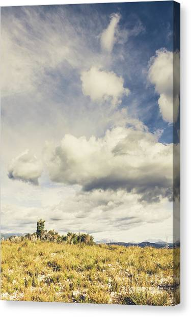 Cloudscape Canvas Print - Minimal Mountaintop Meadow by Jorgo Photography - Wall Art Gallery