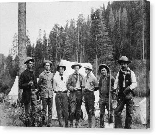 Mining Prospectors Canvas Print by Hulton Archive