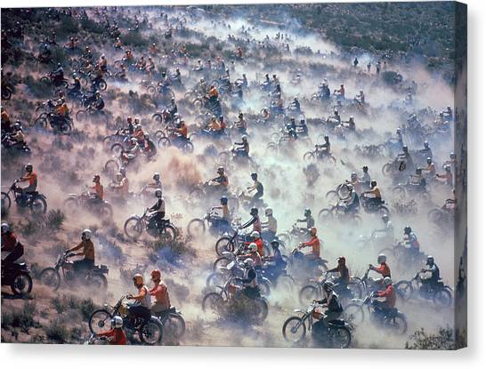 Mint 400 Motocross Race Canvas Print by Bill Eppridge