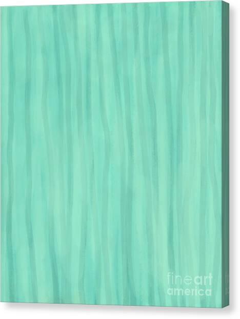 Mint Green Lines Canvas Print