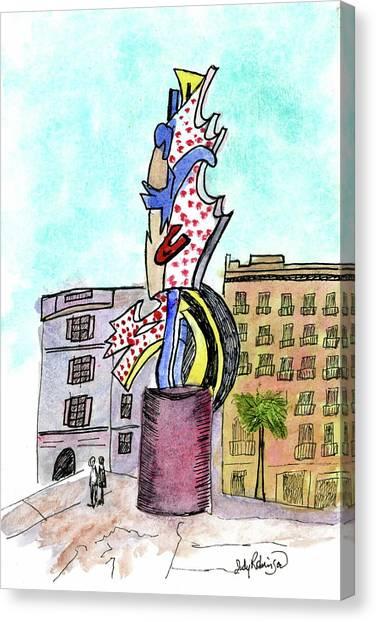 Roy Lichtenstein's El Cap Canvas Print