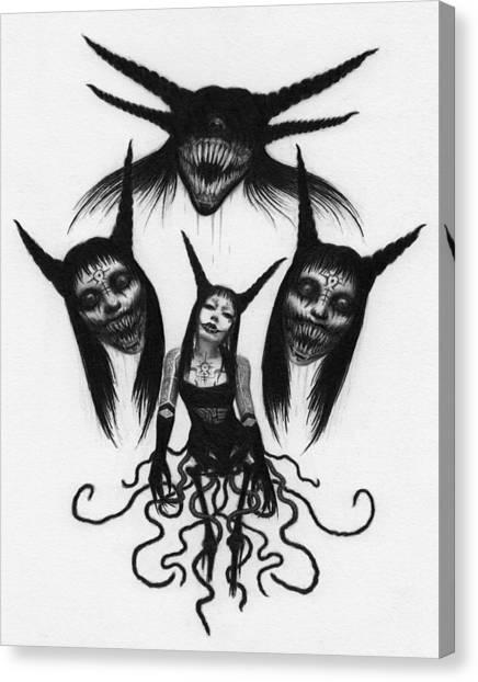 Miss Carnivorous - Artwork Canvas Print