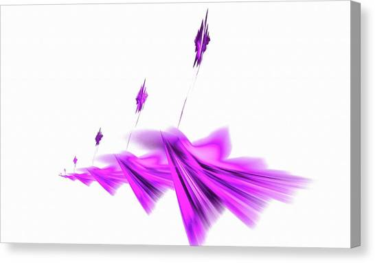 Missile Command Purple Canvas Print