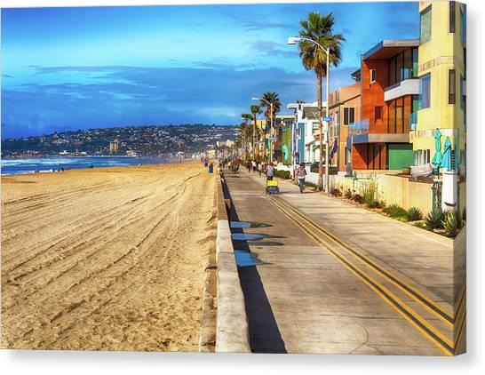 Mission Beach Boardwalk Canvas Print