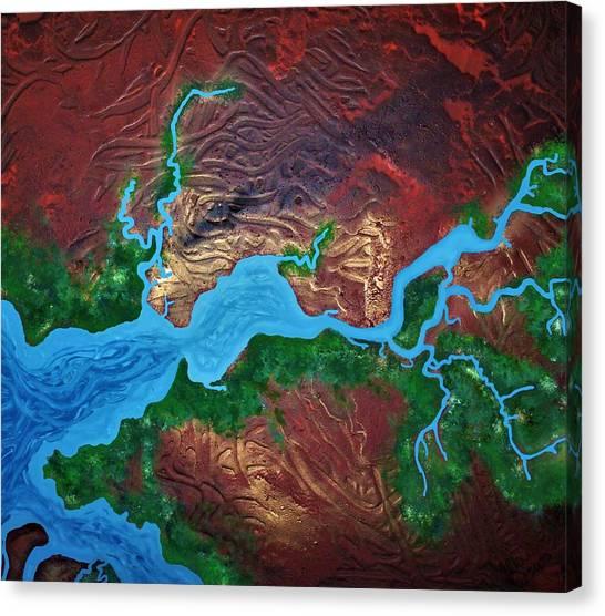 Mission River Canvas Print