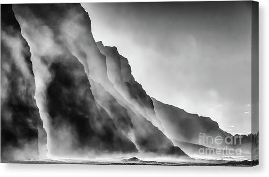 Mist On The Rocks Canvas Print