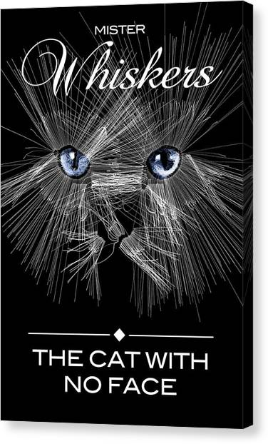 Canvas Print featuring the digital art Mister Whiskers by ISAW Company