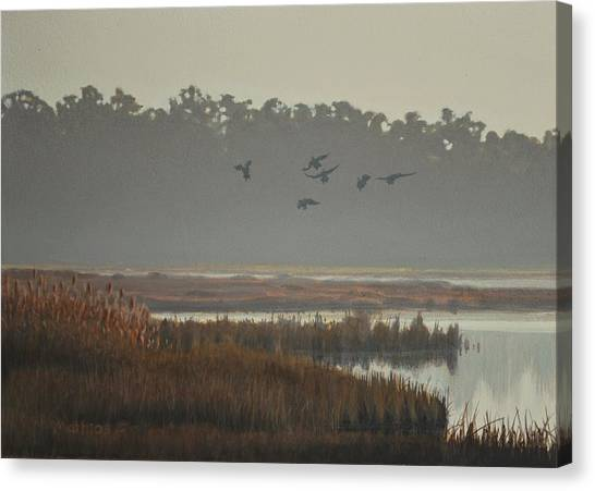 Misty Marsh Canvas Print