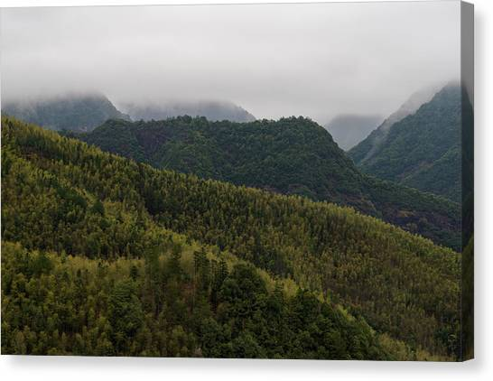 Canvas Print featuring the photograph Misty Mountains I by William Dickman
