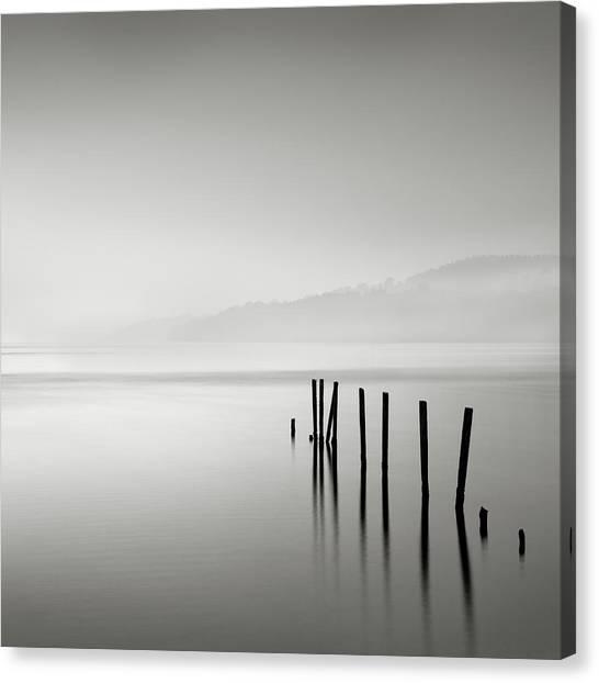 Misty Posts Canvas Print
