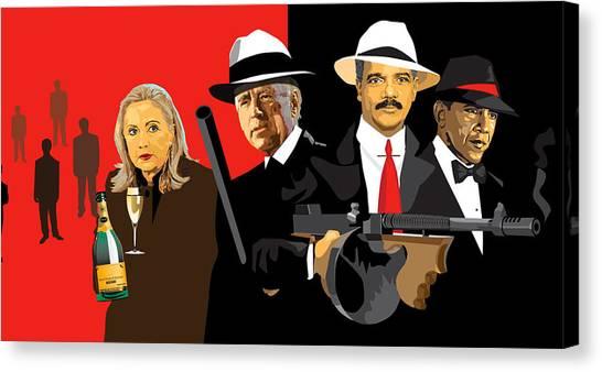Joe Biden Canvas Print - Mobsters by Robert Korhonen